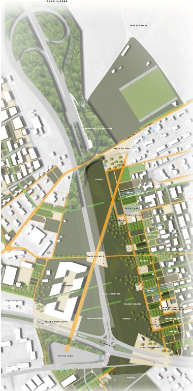 plan projet bernex-confignon , la campagne et la nature Geneve