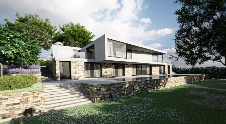 villa lignes epurees et contemporaine
