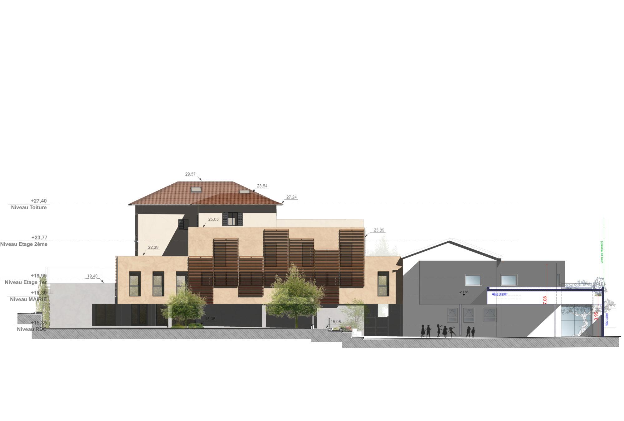 facade ouest projet Mon école