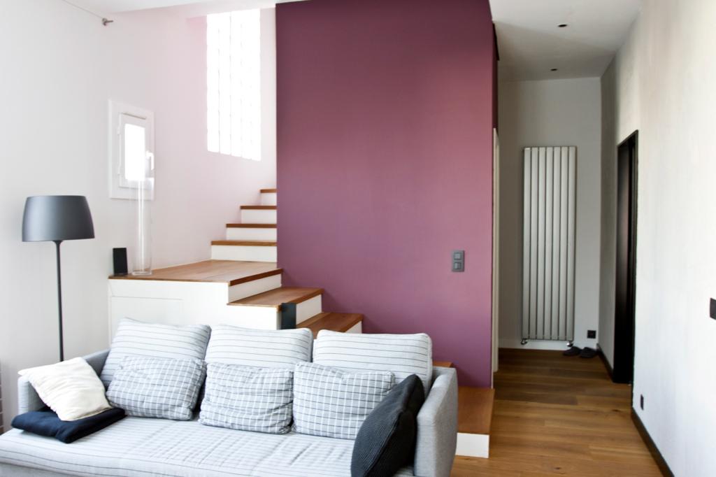 renovation de lappartement decoration mur bordeaux