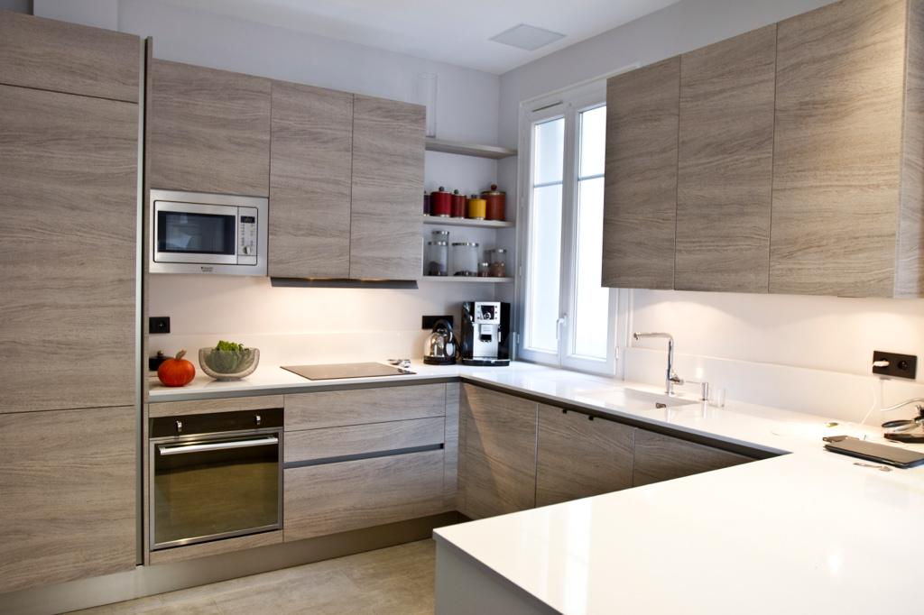 Villa renovation cuisine en bois