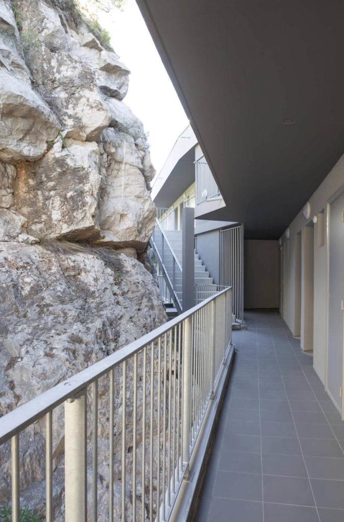 escalier pierre , residence sociale Bellevue