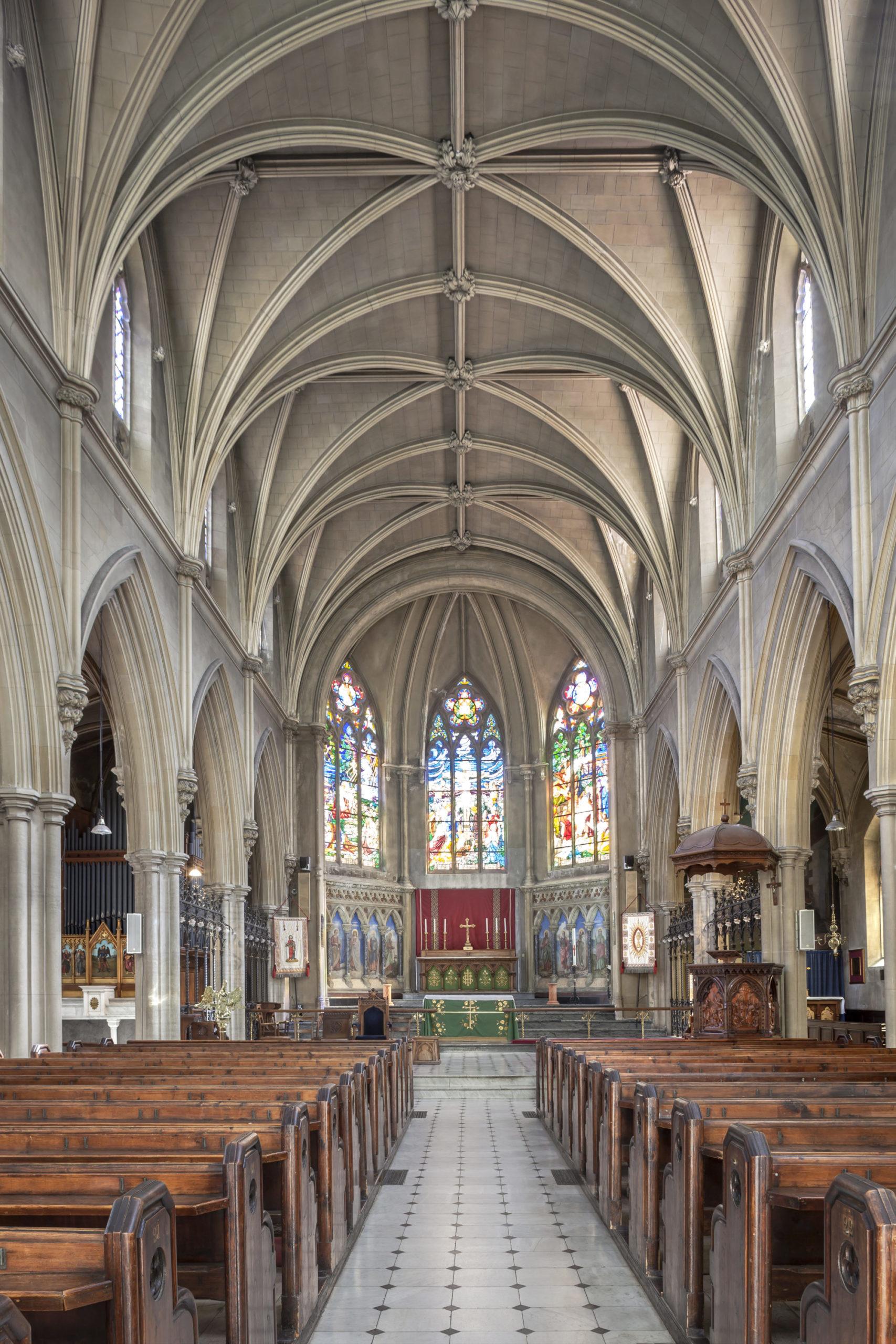 interieur eglise, renovation interieur eglise anglicane, nice