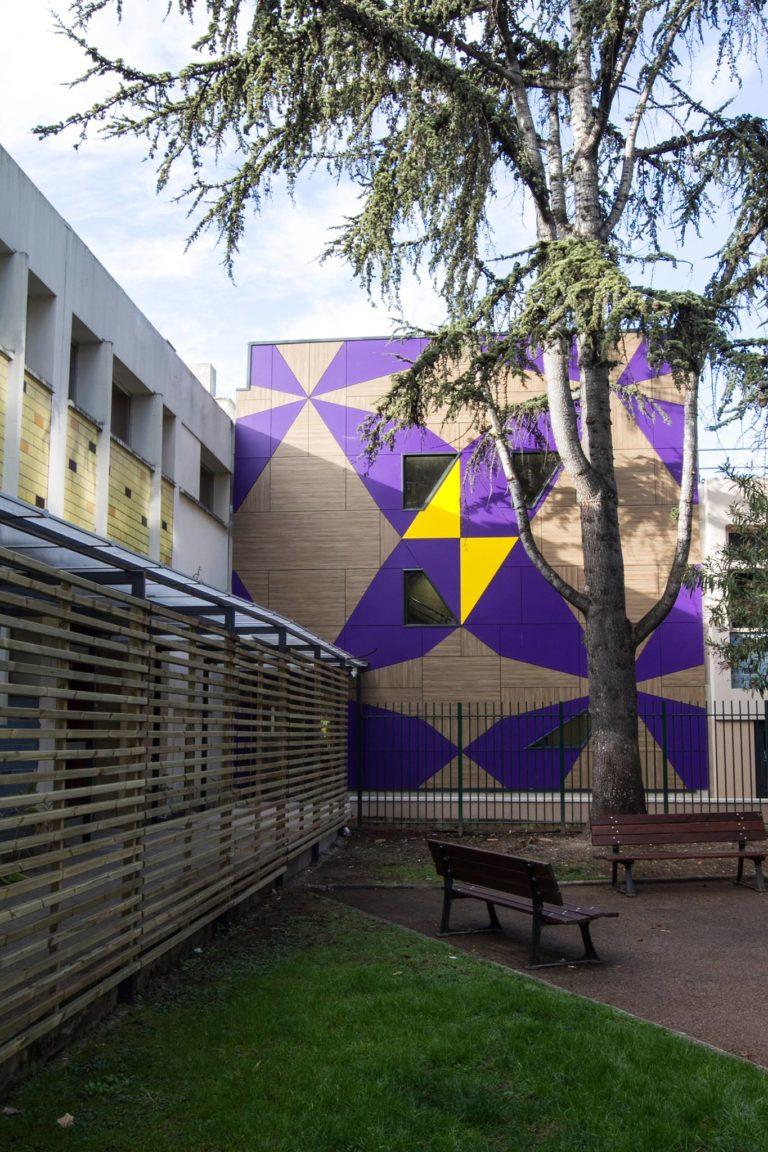facade bâtiment des Mimosas